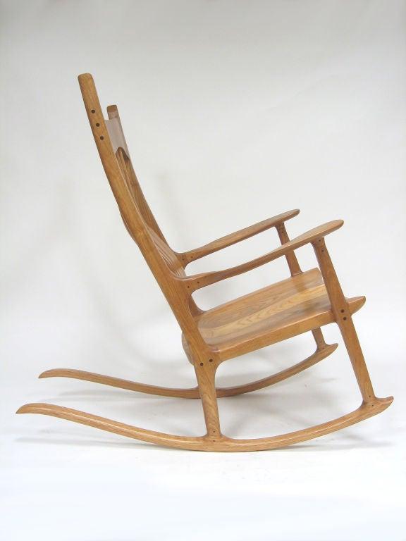 Sam Maloof Style Rocking Chair in White Oak 3