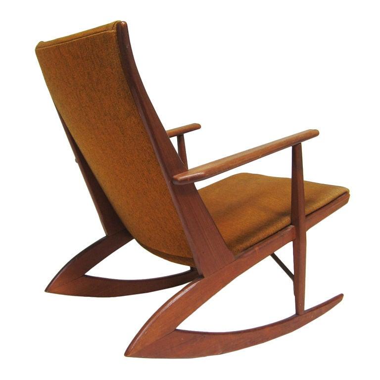 Georg Jensen teak rocking chair at 1stdibs