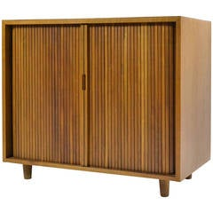 Milo Baughman Tambour Door Cabinet by Glenn of California