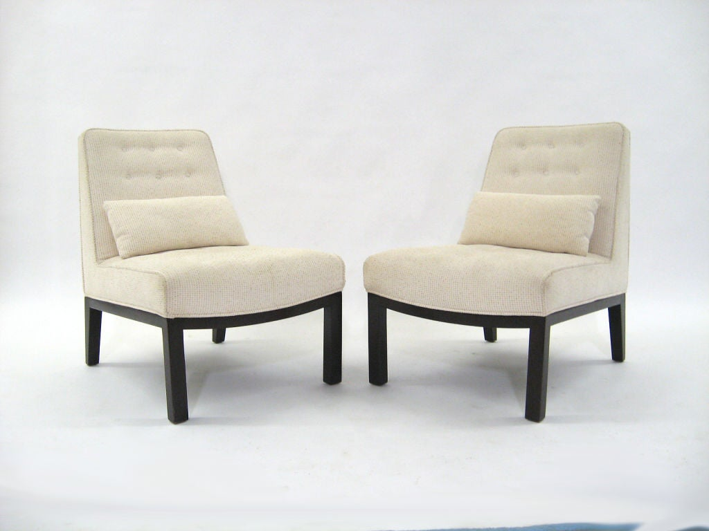 Slipper Stand Designs : Edward wormley pair of slipper chairs by dunbar at stdibs