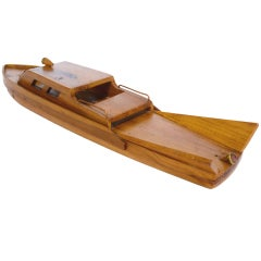 Great wooden model boat from the 1950s