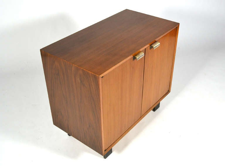 George Nelson Walnut Cabinet By Herman Miller At 1stdibs