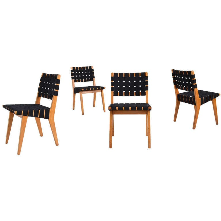 Set of four early jens risom side chairs by knoll at 1stdibs - Jens risom side chair ...