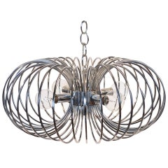 "Gaetano Sciolari ""Cage"" pendant lamp by Lightolier"