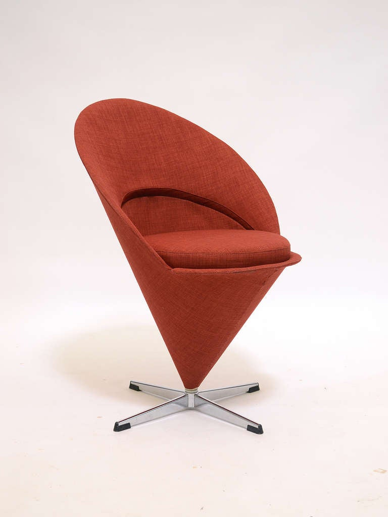 cone chair by verner panton for sale at 1stdibs. Black Bedroom Furniture Sets. Home Design Ideas