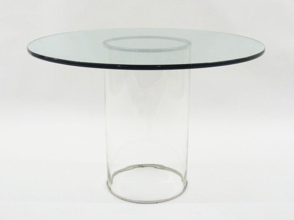 Minimalist all glass dining table at 1stdibs : 909113042956182 from www.1stdibs.com size 1024 x 768 jpeg 26kB