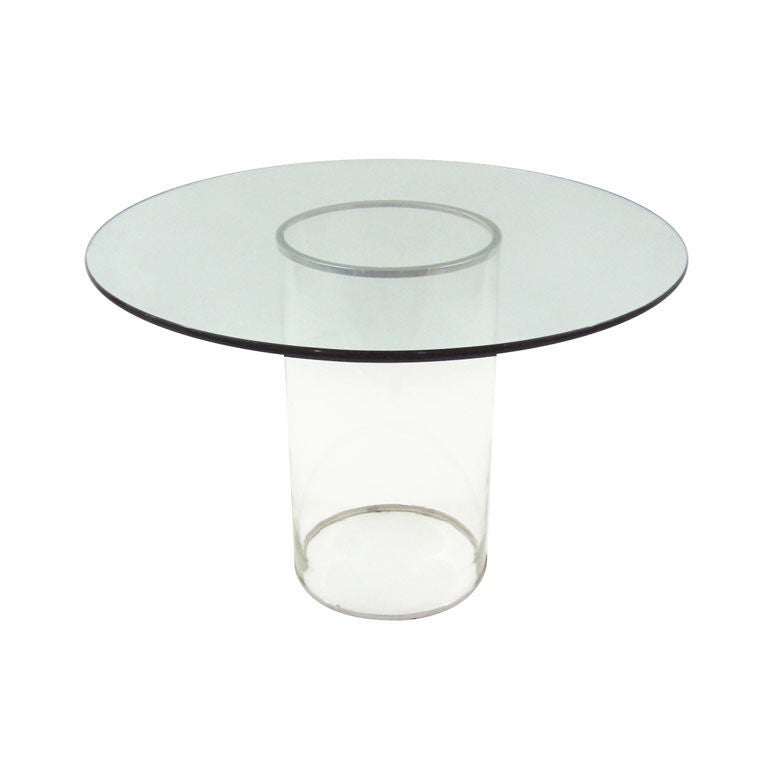 this minimalist all glass dining table is no longer available