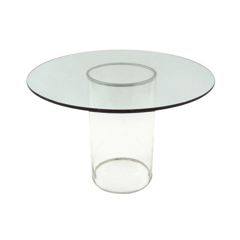 Minimalist all glass dining table at 1stdibs : XXX909113042956181 from www.1stdibs.com size 768 x 768 jpeg 17kB