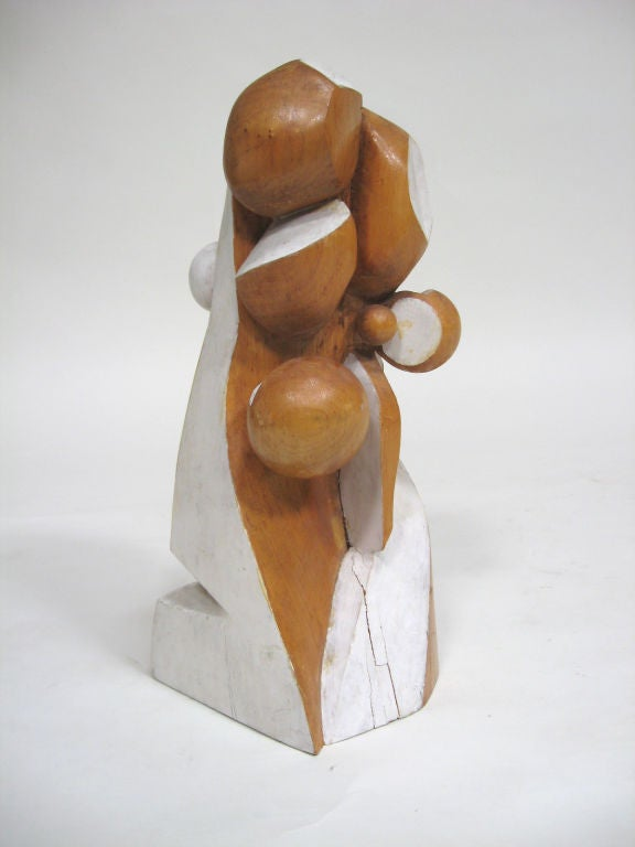 American Abstract Wood Sculpture by Arthur Rossfield For Sale