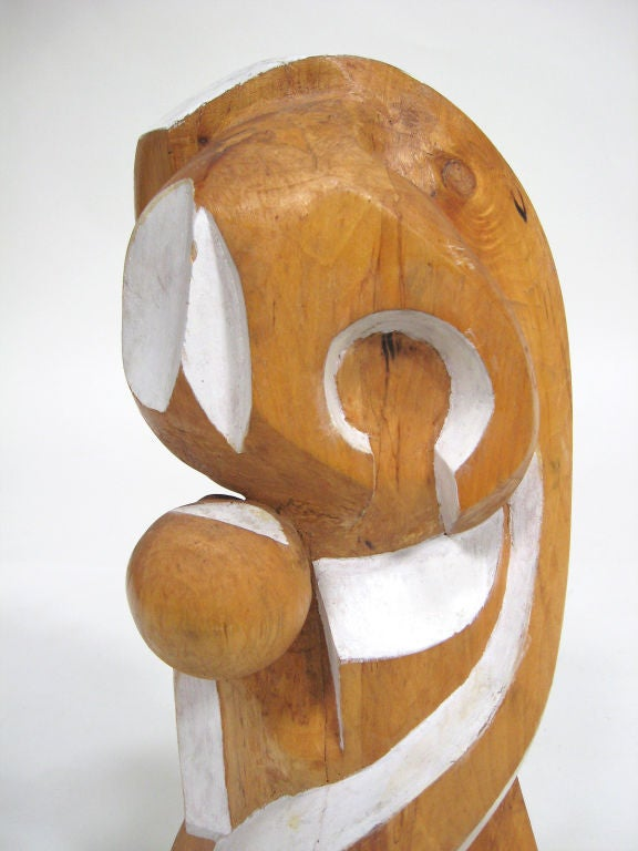 Mid-20th Century Abstract Wood Sculpture by Arthur Rossfield For Sale