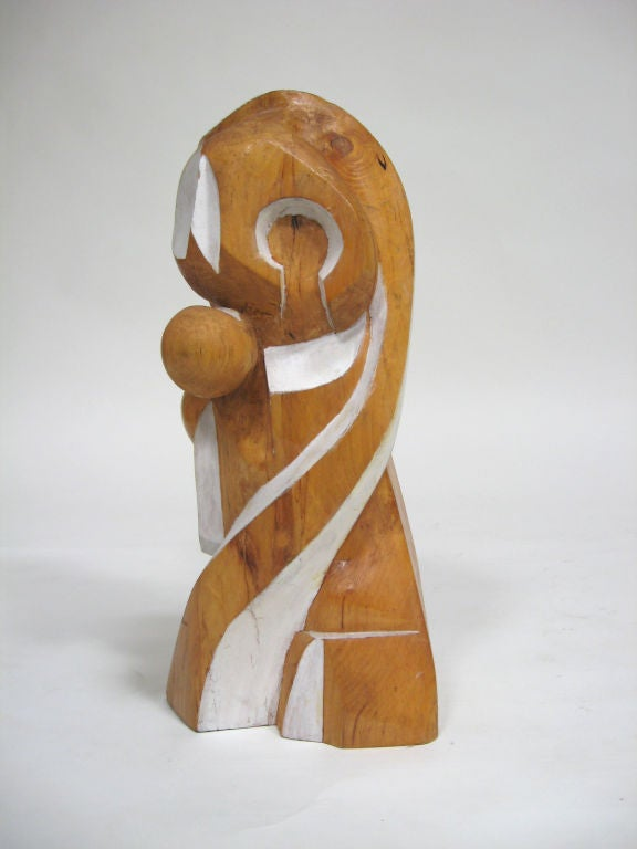 Abstract Wood Sculpture by Arthur Rossfield For Sale 4