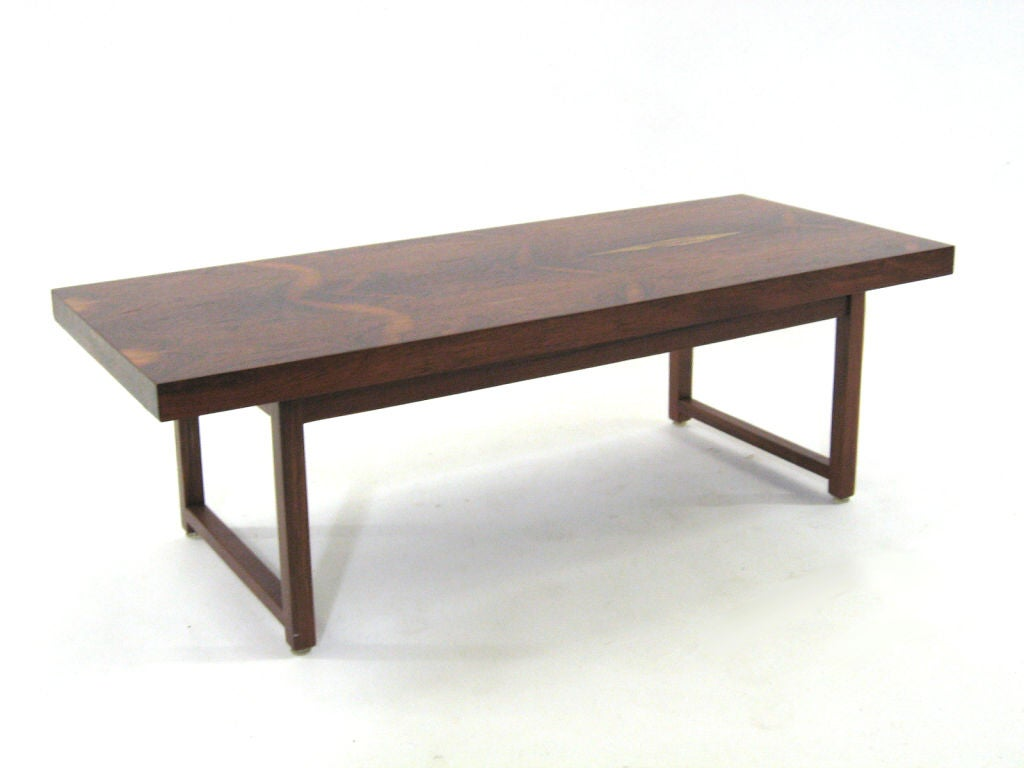 Rosewood Coffee Table By Milo Baughman For Thayer Coggin At 1stdibs