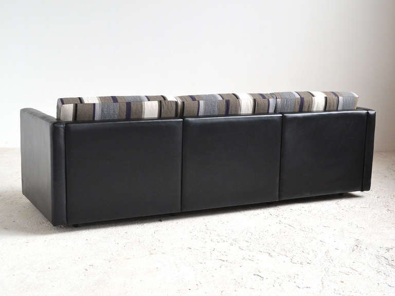 Charles Pfister Sofa By Knoll In Leather And Fabric At 1stdibs