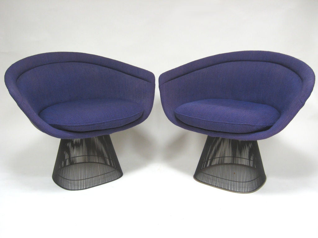 Pair of bronze Warren Platner lounge chairs by Knoll at 1stdibs