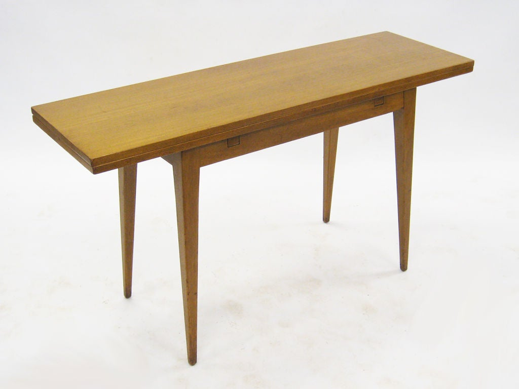 Flip top console dining table by ed wormley for dunbar at for 1 1 table