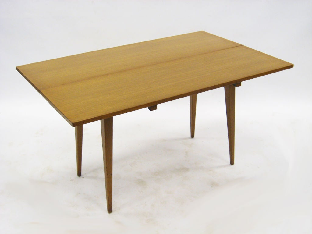 Flip Top Console Dining Table By Ed Wormley For Dunbar At
