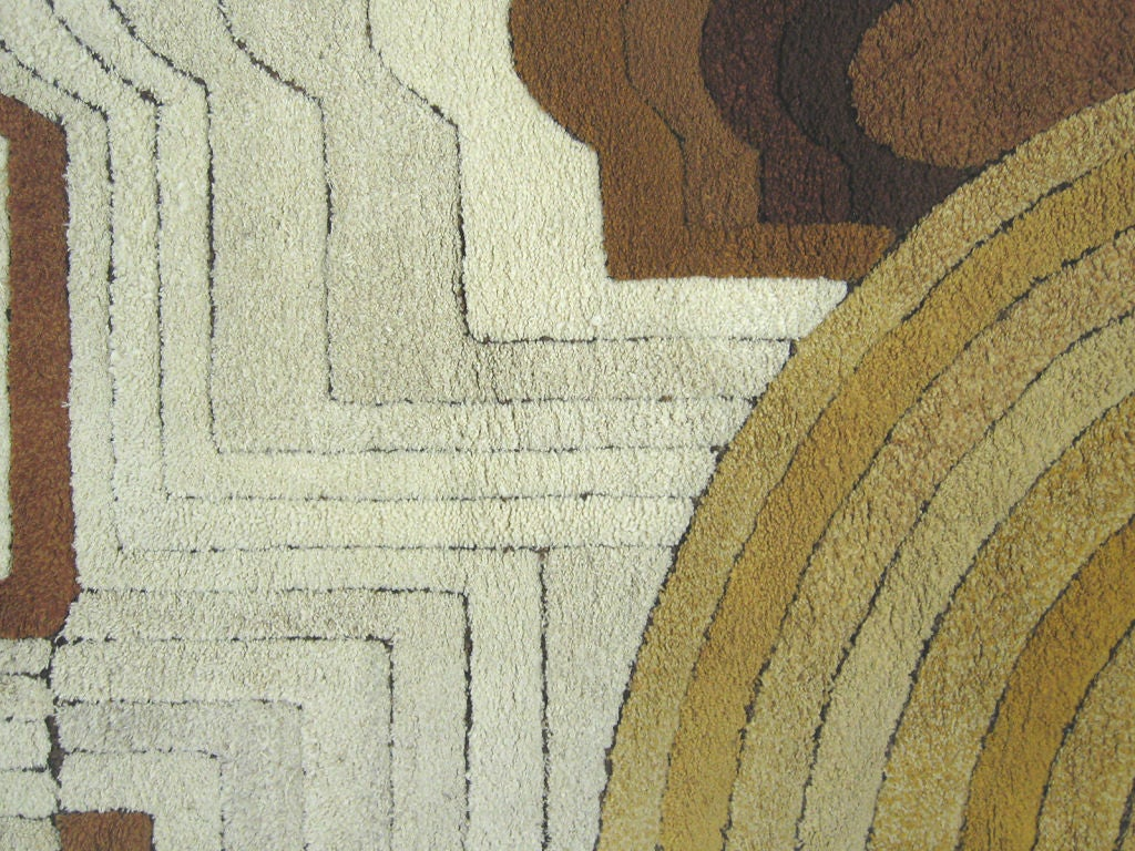 1970s german deep pile graphic rug for sale at 1stdibs - Deep pile carpet protector ...