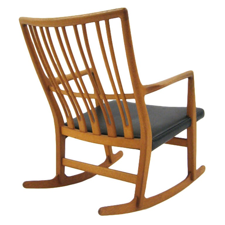 Hans Wegner ML33 Rocking Chair By Mikael Laursen At 1stdibs