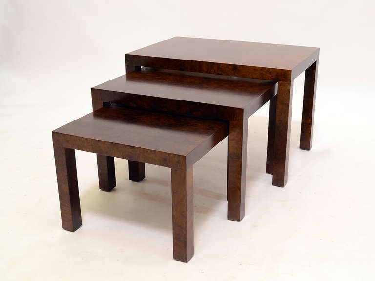 Mid-Century Modern Set of Milo Baughman Nesting Tables by Directional For Sale