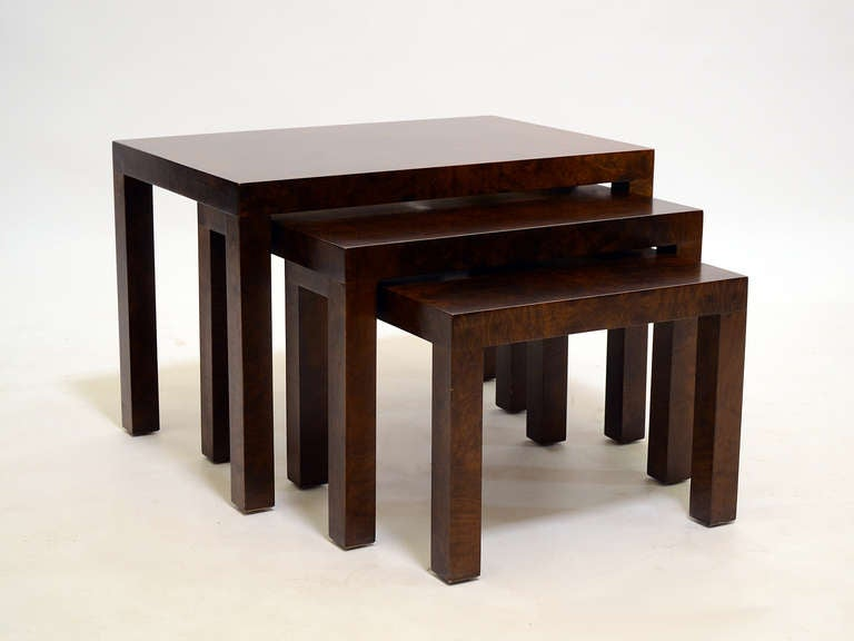 American Set of Milo Baughman Nesting Tables by Directional For Sale