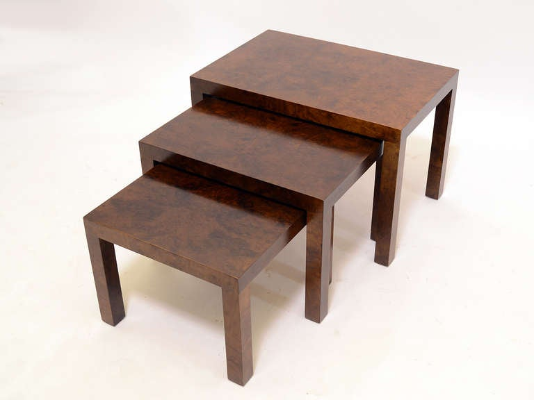 Set of Milo Baughman Nesting Tables by Directional In Good Condition For Sale In Highland, IN
