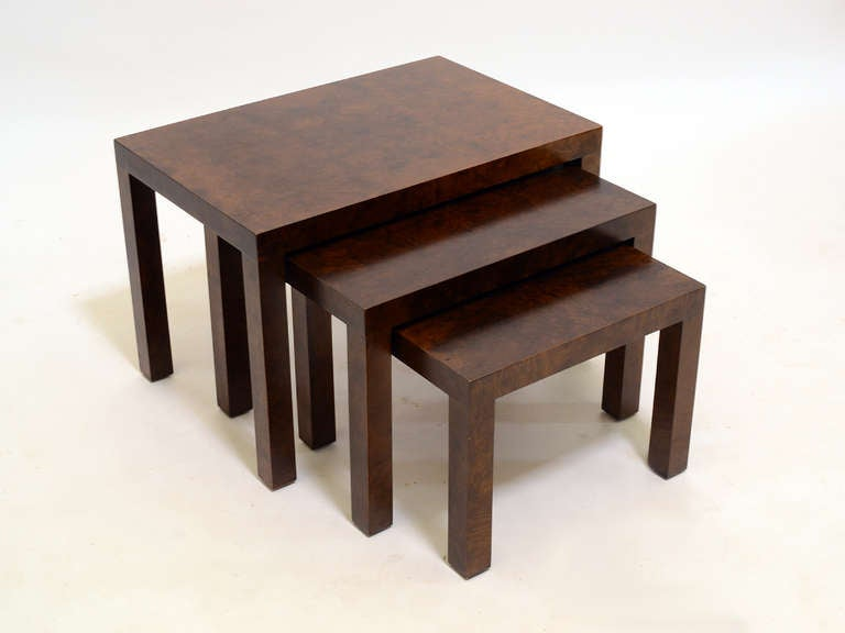 Late 20th Century Set of Milo Baughman Nesting Tables by Directional For Sale