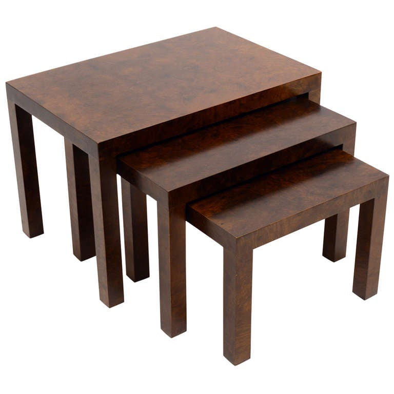 Set of Milo Baughman Nesting Tables by Directional For Sale