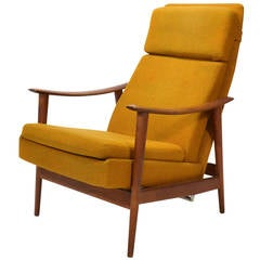 Sam Maloof Style Rocking Chair In White Oak At 1stdibs