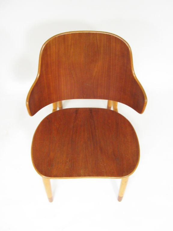 Pair of Lounge Chairs in Teak and Birch by Ib Kofod-Larsen 8