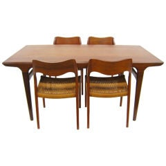 Dining set by Niels Moller and Johannes Andersen