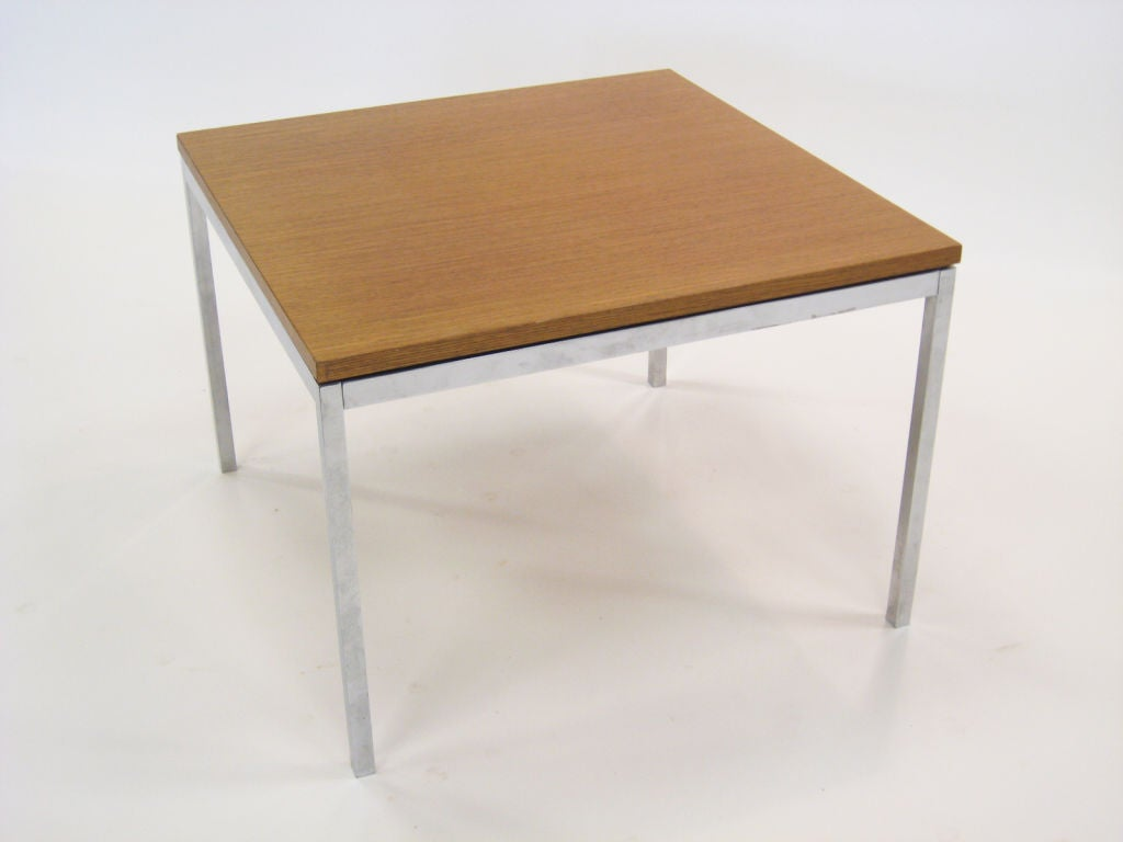 Florence Knoll Coffee End Table With Combed Oak Top For Sale At 1stdibs
