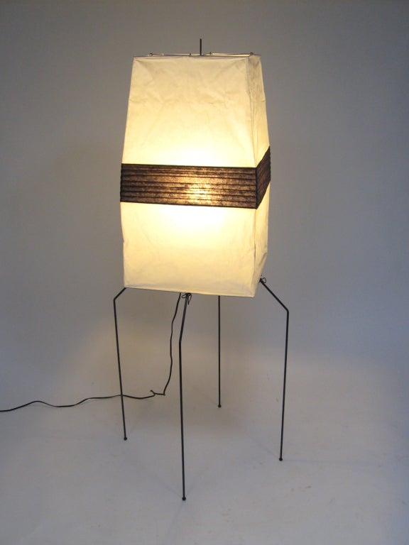 noguchi akari light sculpture floor lamp at 1stdibs