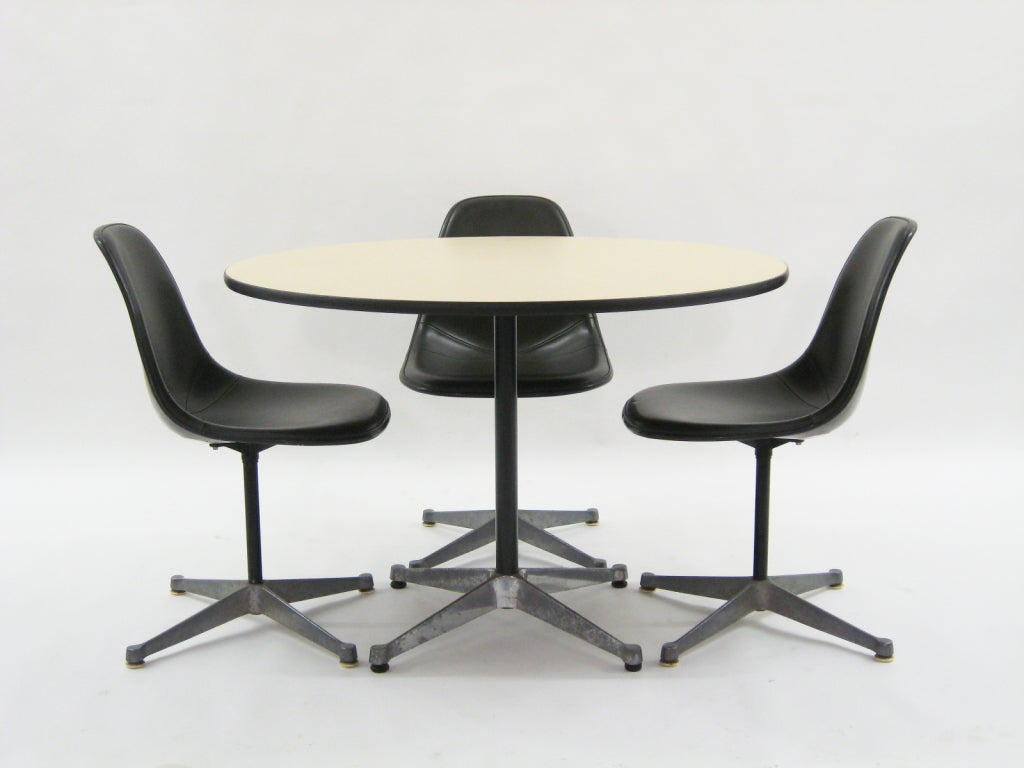 Set of Eames upholstered side chairs by Herman Miller at  : 909113280662426 from www.1stdibs.com size 1024 x 768 jpeg 51kB