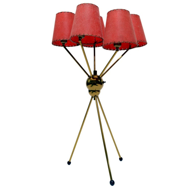 Brass 1950s Sputnik Table Lamp