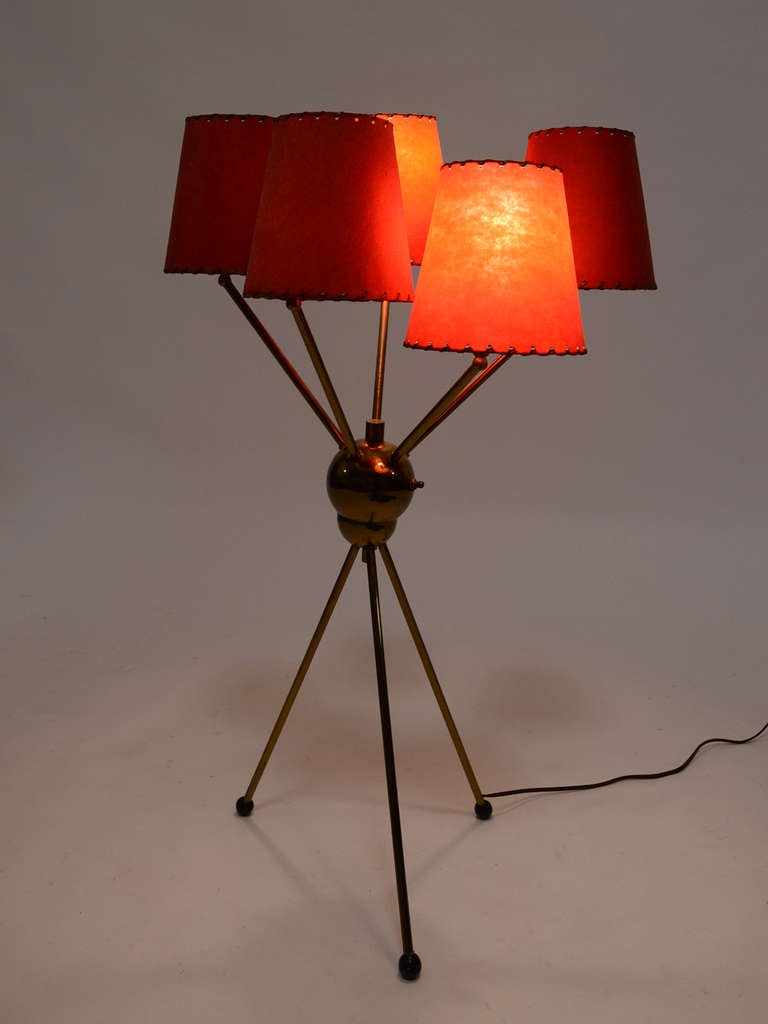 brass 1950s sputnik table lamp for sale at 1stdibs. Black Bedroom Furniture Sets. Home Design Ideas