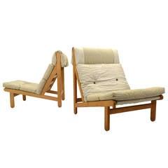 """Bernt Petersen Pair of """"Rag"""" Easy Chairs"""