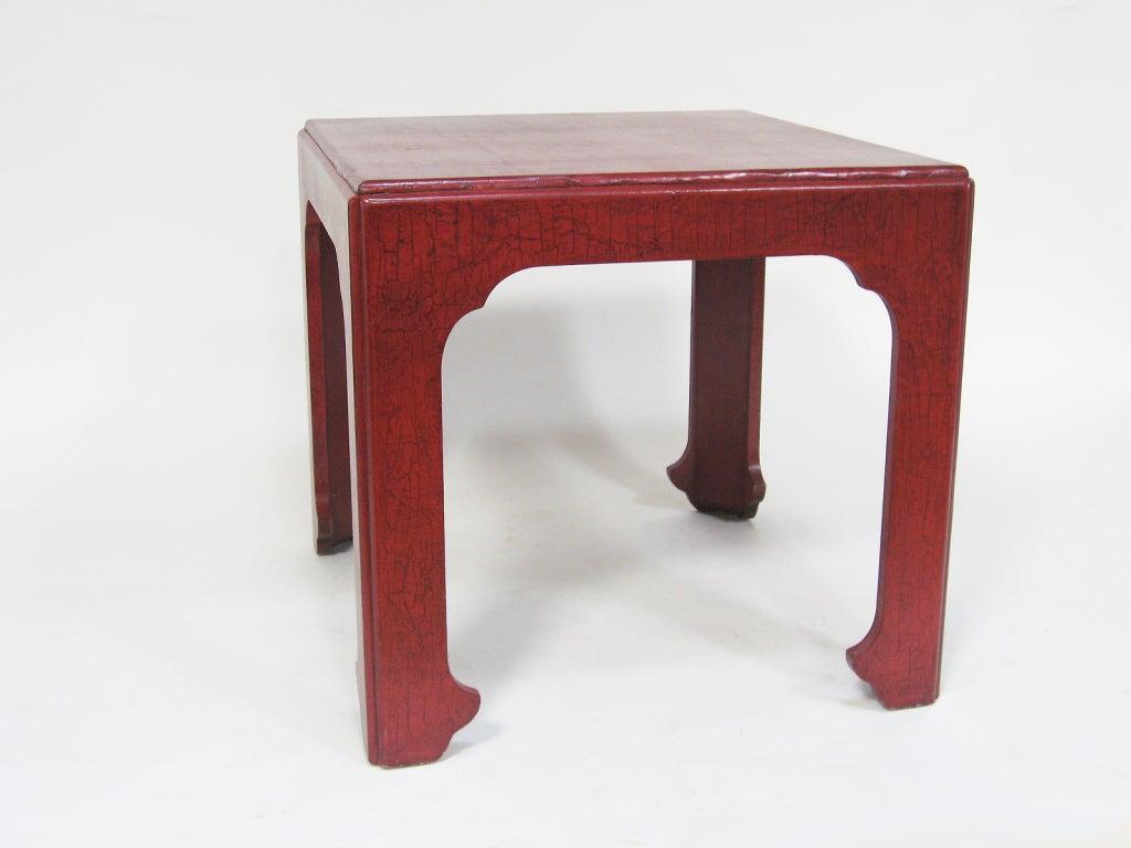 Mid-Century Modern Baker Asian Modern Side Table For Sale
