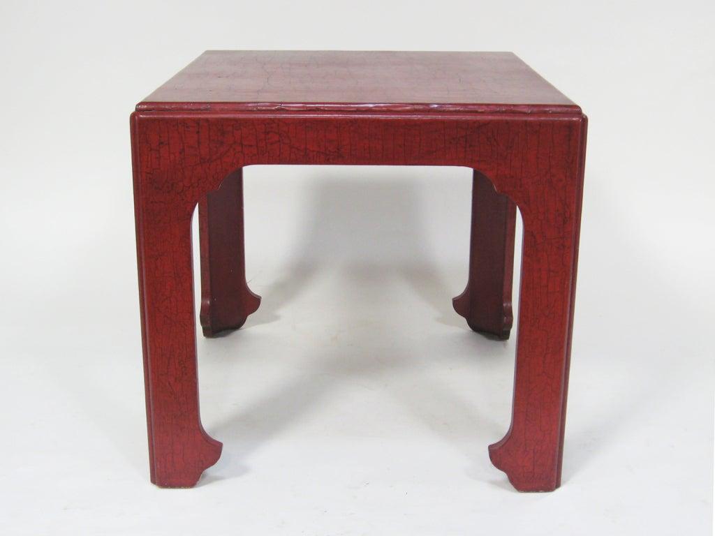 American Baker Asian Modern Side Table For Sale