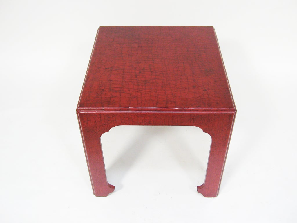 Baker Asian Modern Side Table In Excellent Condition For Sale In Highland, IN
