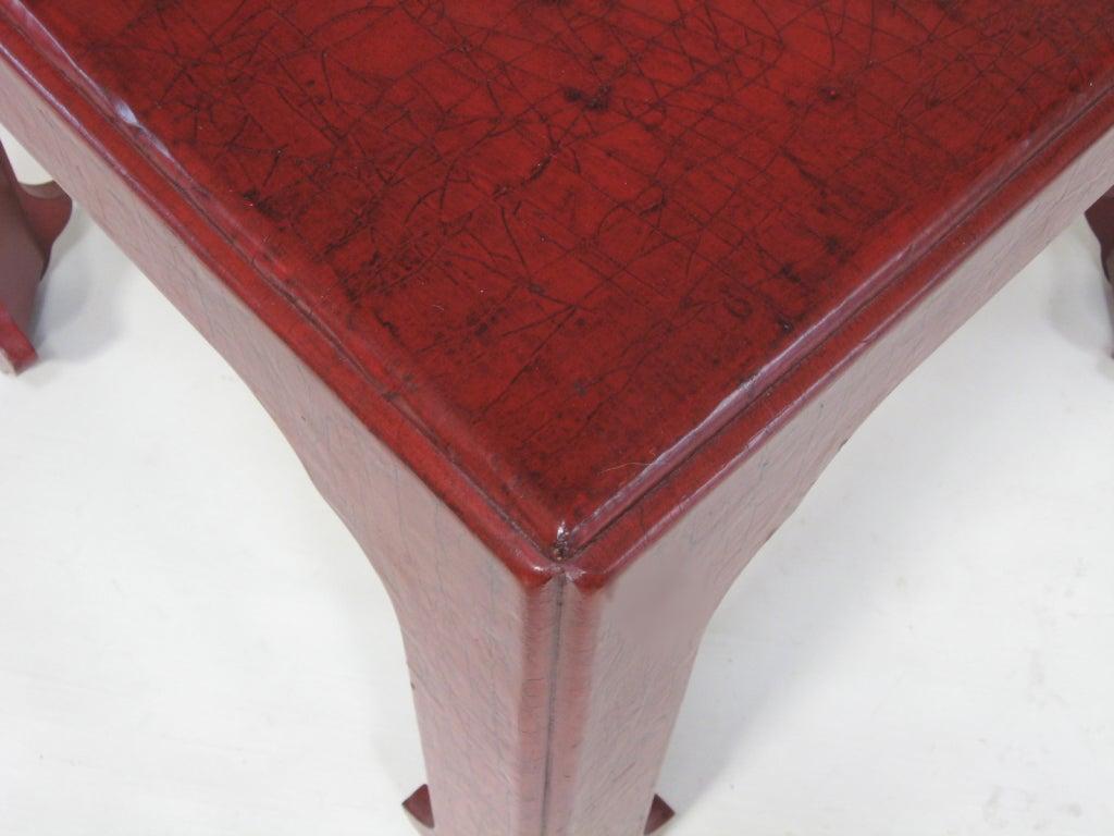 Wood Baker Asian Modern Side Table For Sale
