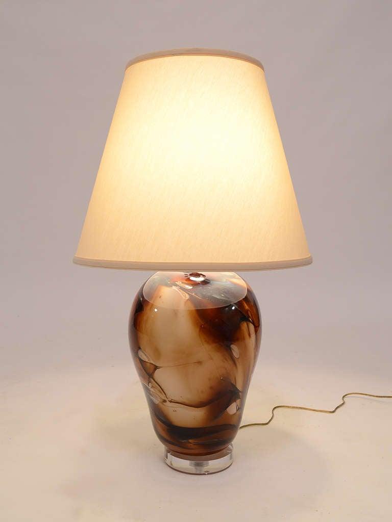 hand blown art glass lamp by kent ipsen at 1stdibs. Black Bedroom Furniture Sets. Home Design Ideas