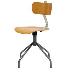 Italian Task Chair with Molded Plywood Seat and Back
