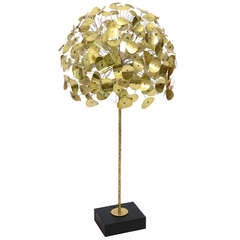 Oversize Dandelion Sculpture In Brass By Jere