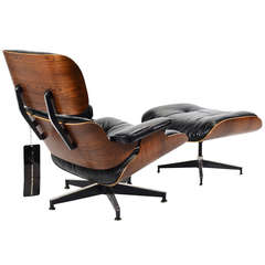 Exceptional Rosewood Eames Lounge Chair and Ottoman by Herman Miller