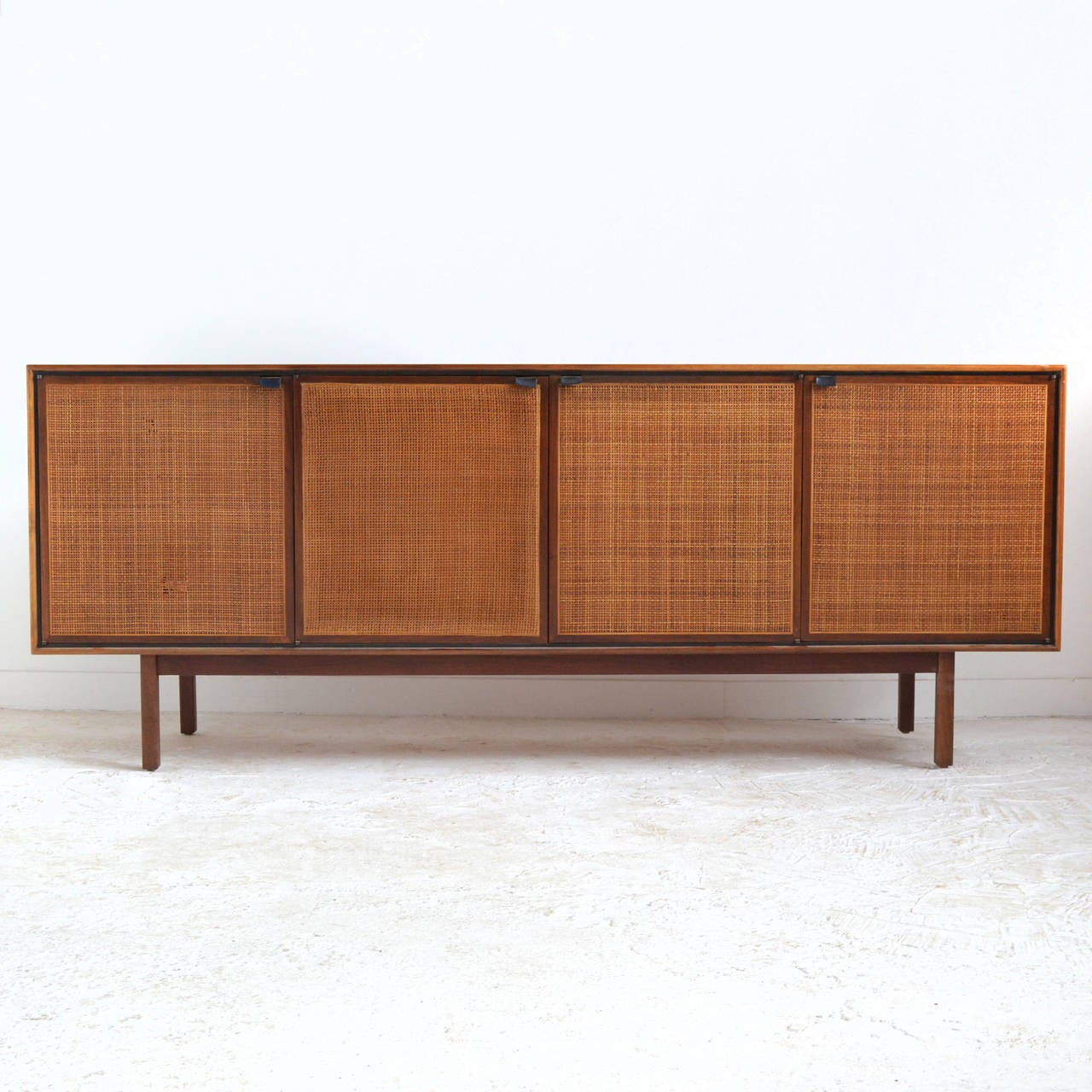 Teak Cane Front Credenza And Cabinet By Founders At 1stdibs