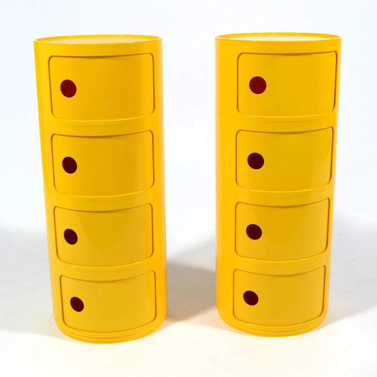 Mid-Century Modern Anna Castelli Ferrieri Set of Componibili Storage Units by Kartell For Sale