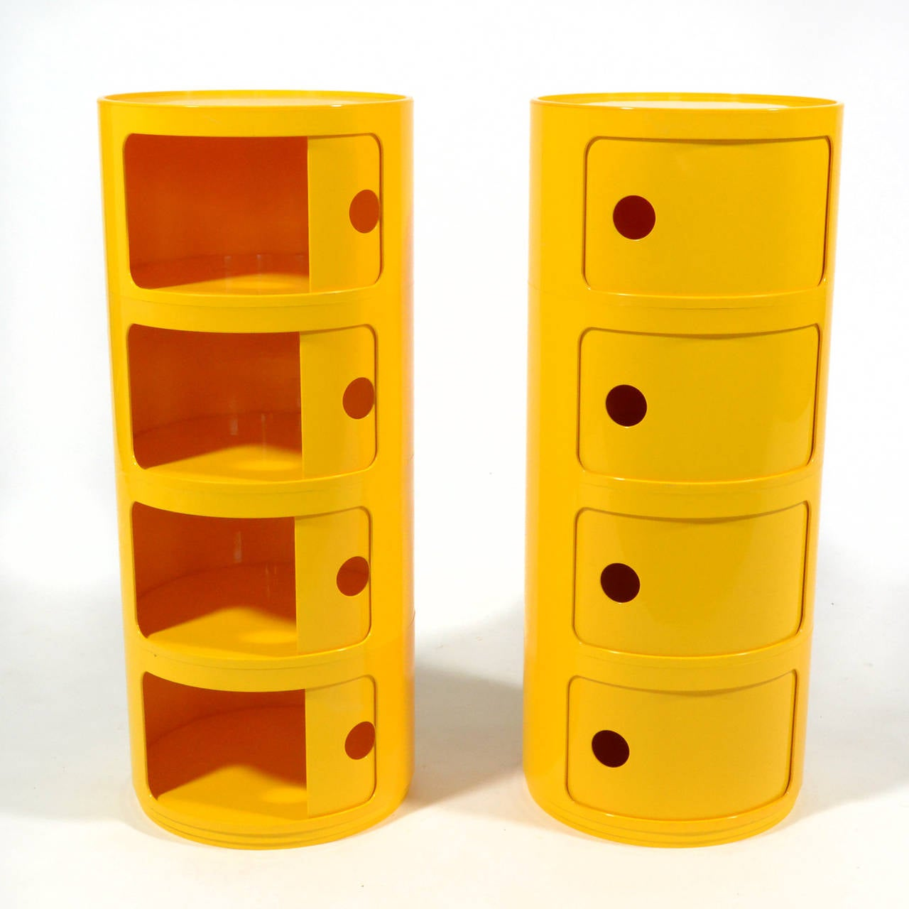 Plastic Anna Castelli Ferrieri Set of Componibili Storage Units by Kartell For Sale