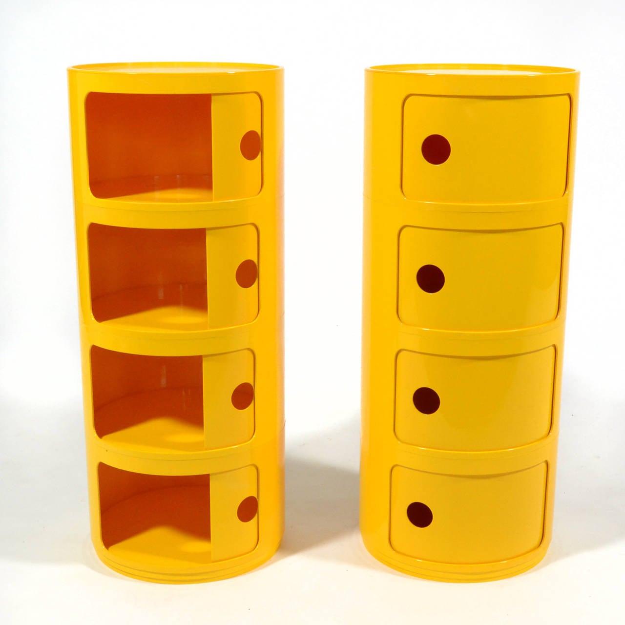anna castelli ferrieri set of componibili storage units by. Black Bedroom Furniture Sets. Home Design Ideas