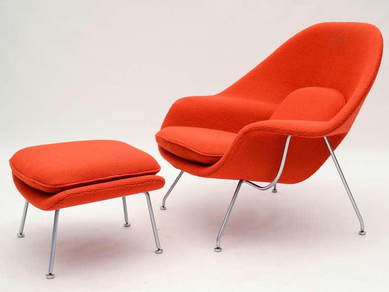 Eero Saarinen womb chair and ottoman in cato fabric 2
