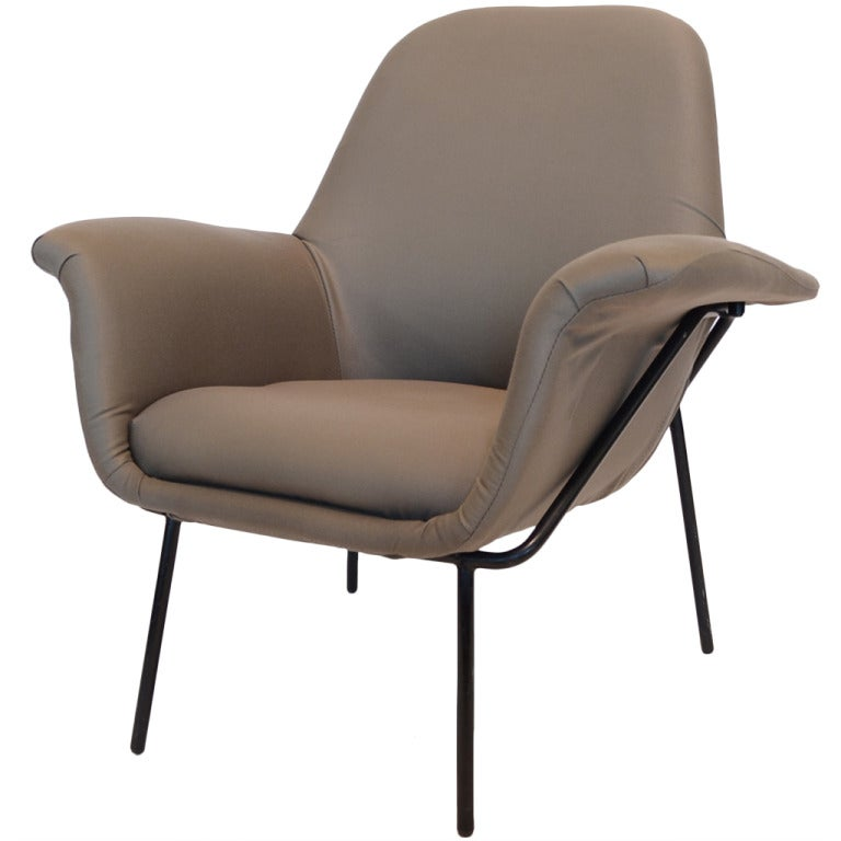 "Giancarlo De Carlo ""Lucania"" Lounge Chair by Arflex For Sale"